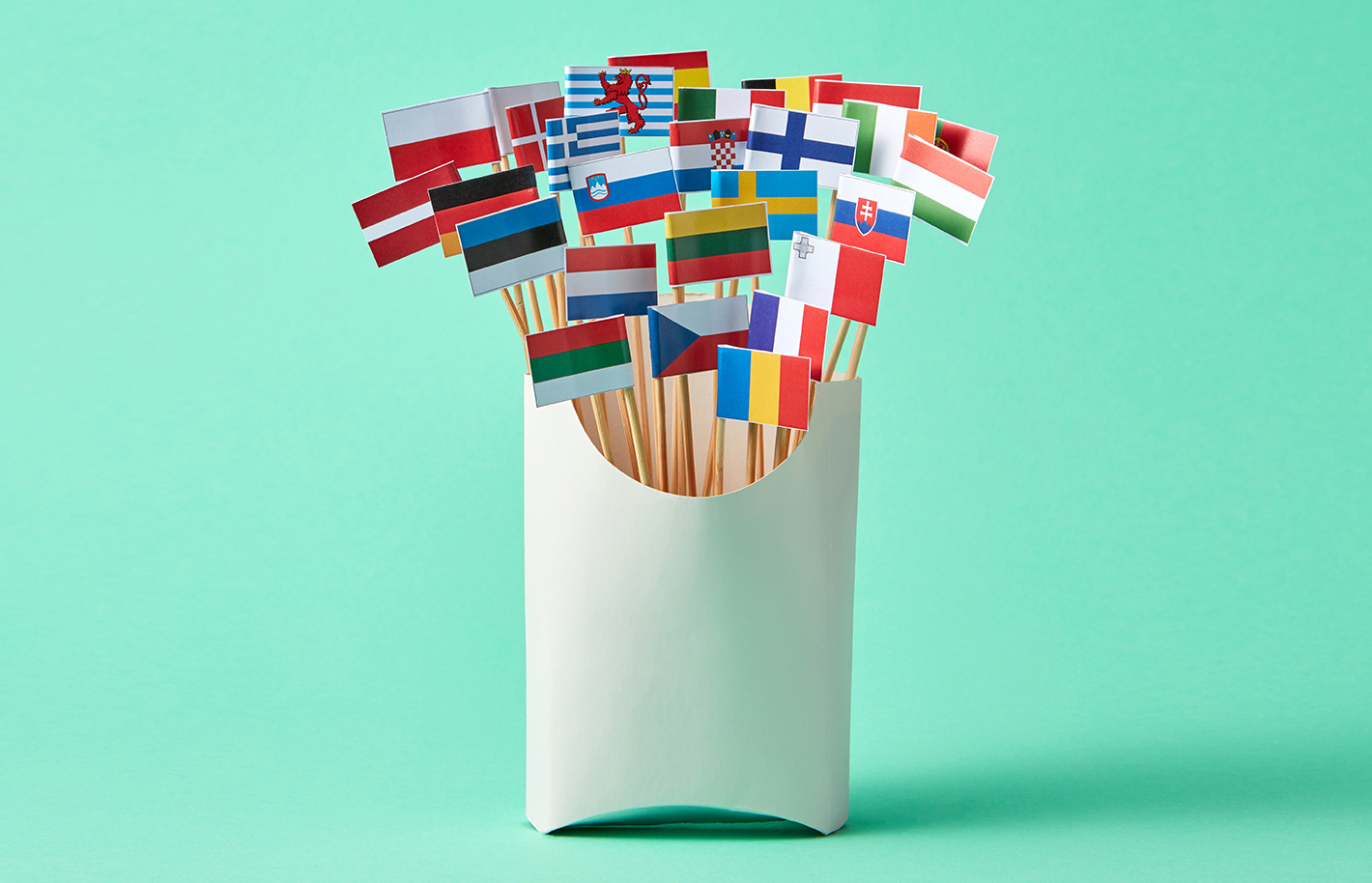 A collection of different national flags